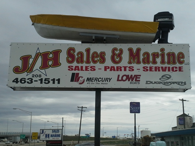 jh sales and marine sign